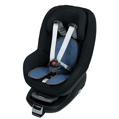 baby car-seat blue-denim cote