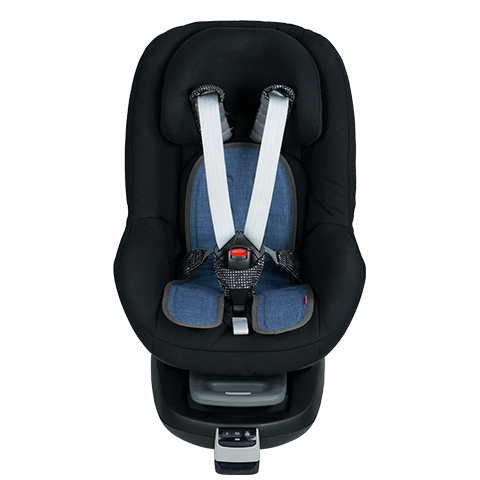 baby car-seat blue-denim face
